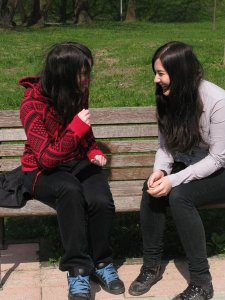 "Photo Credit: ""Friends Talking"" by Lusi"